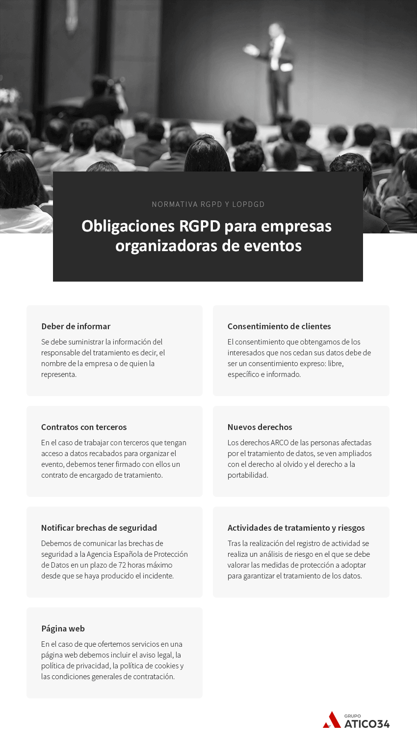 obligaciones rgpd empresas organizadoras eventos