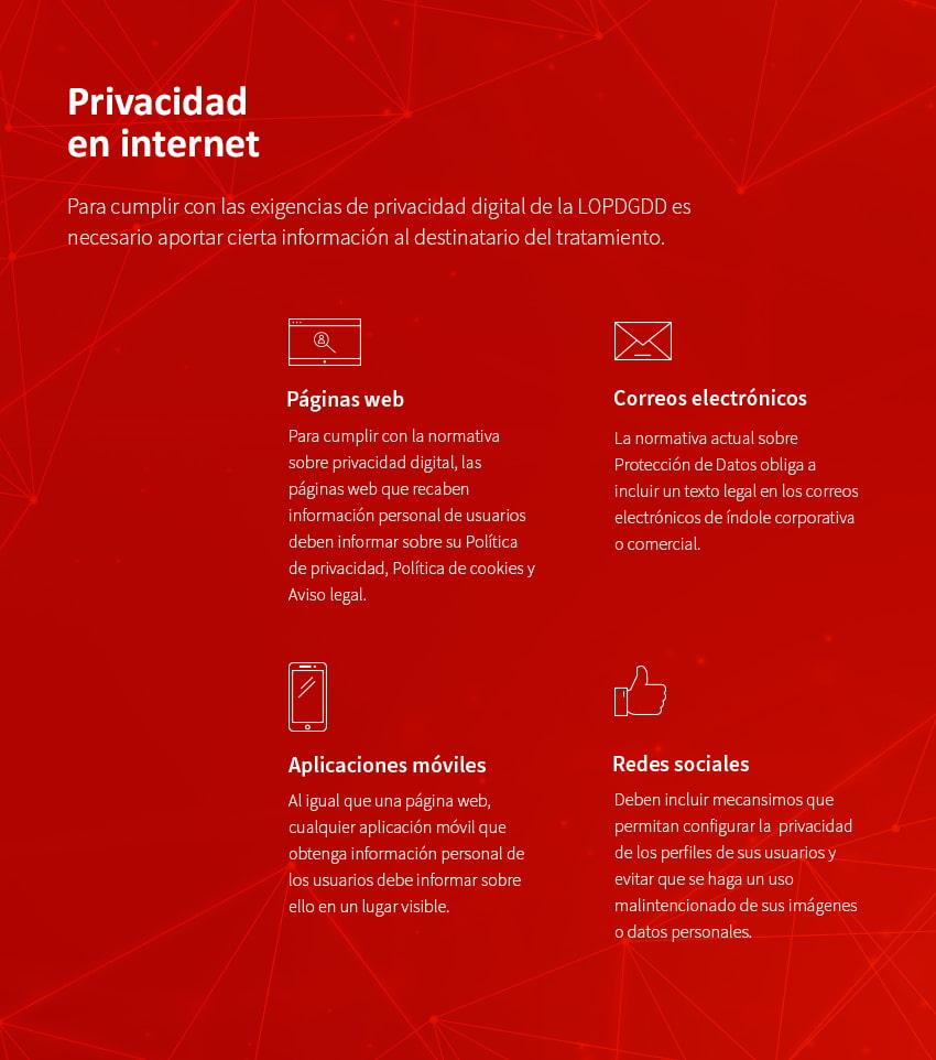 privacidad digital en internet