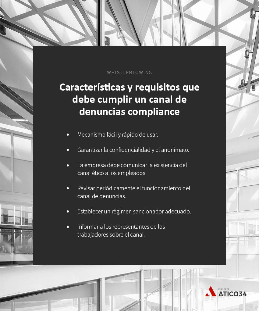 caracteristicas canal denuncias compliance