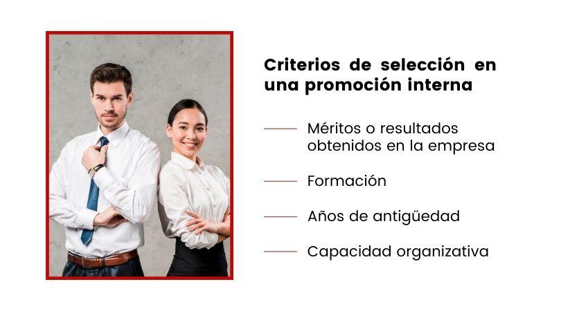 Criterios selección para una promoción interna en la empresa