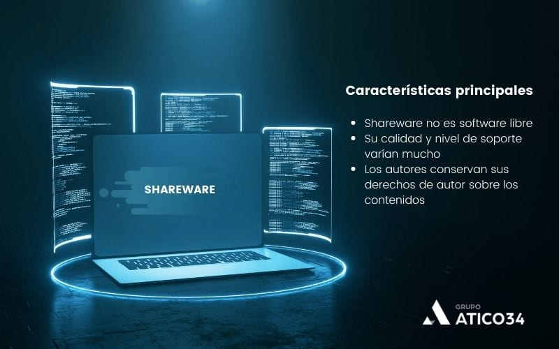 Características de shareware