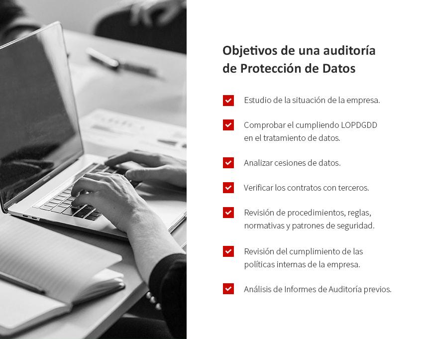 objetivos de una auditoria de proteccion de datos