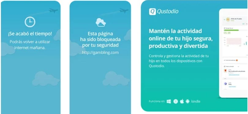 Apps de control parental: Qustodio