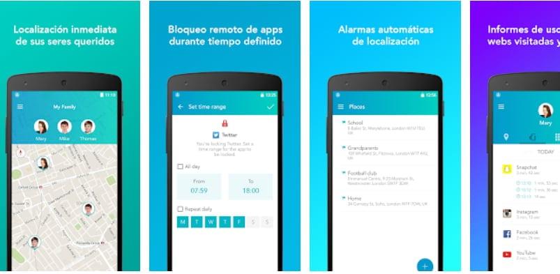 App de control parental: Locategy