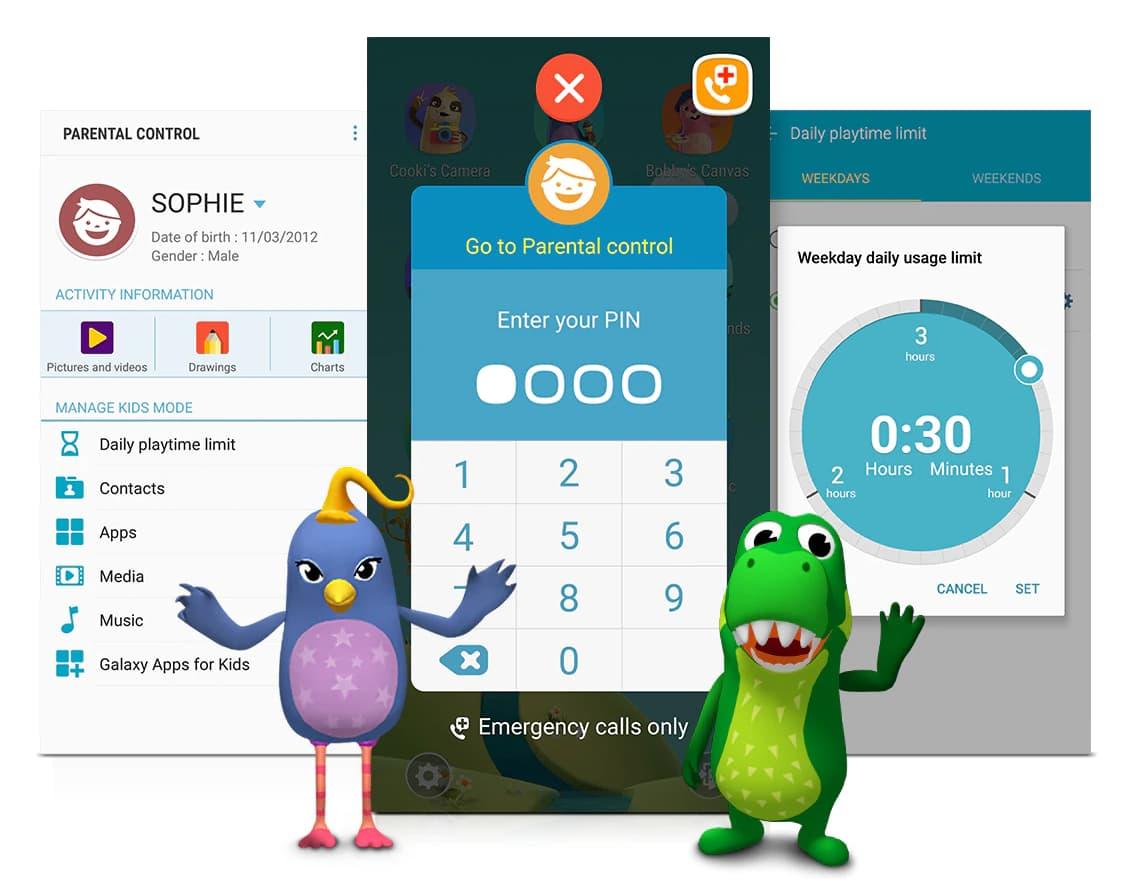 App de control parental: Modo Niños de Samsung