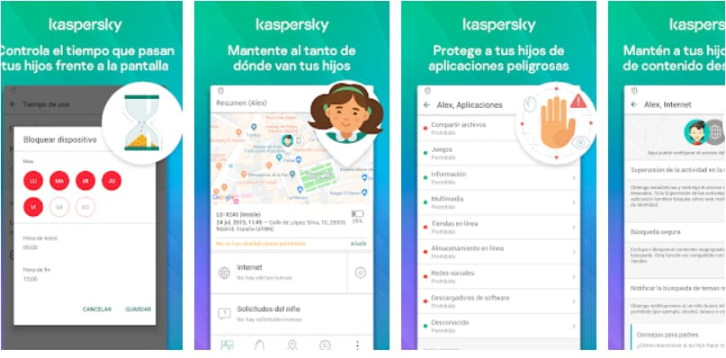 App de control parental: Kaspersky SafeKids