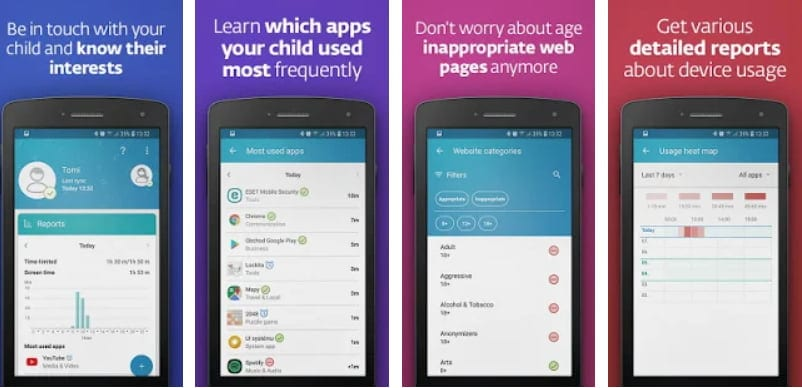 App de control parental: ESET Parental Control