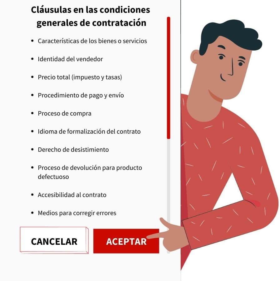 Cláusulas condiciones generales de contratación