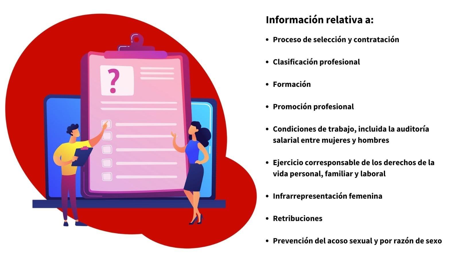 Información necesaria Diagnóstico plan de igualdad