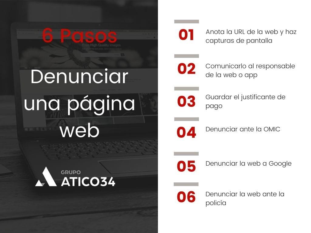 pasos denunciar página web