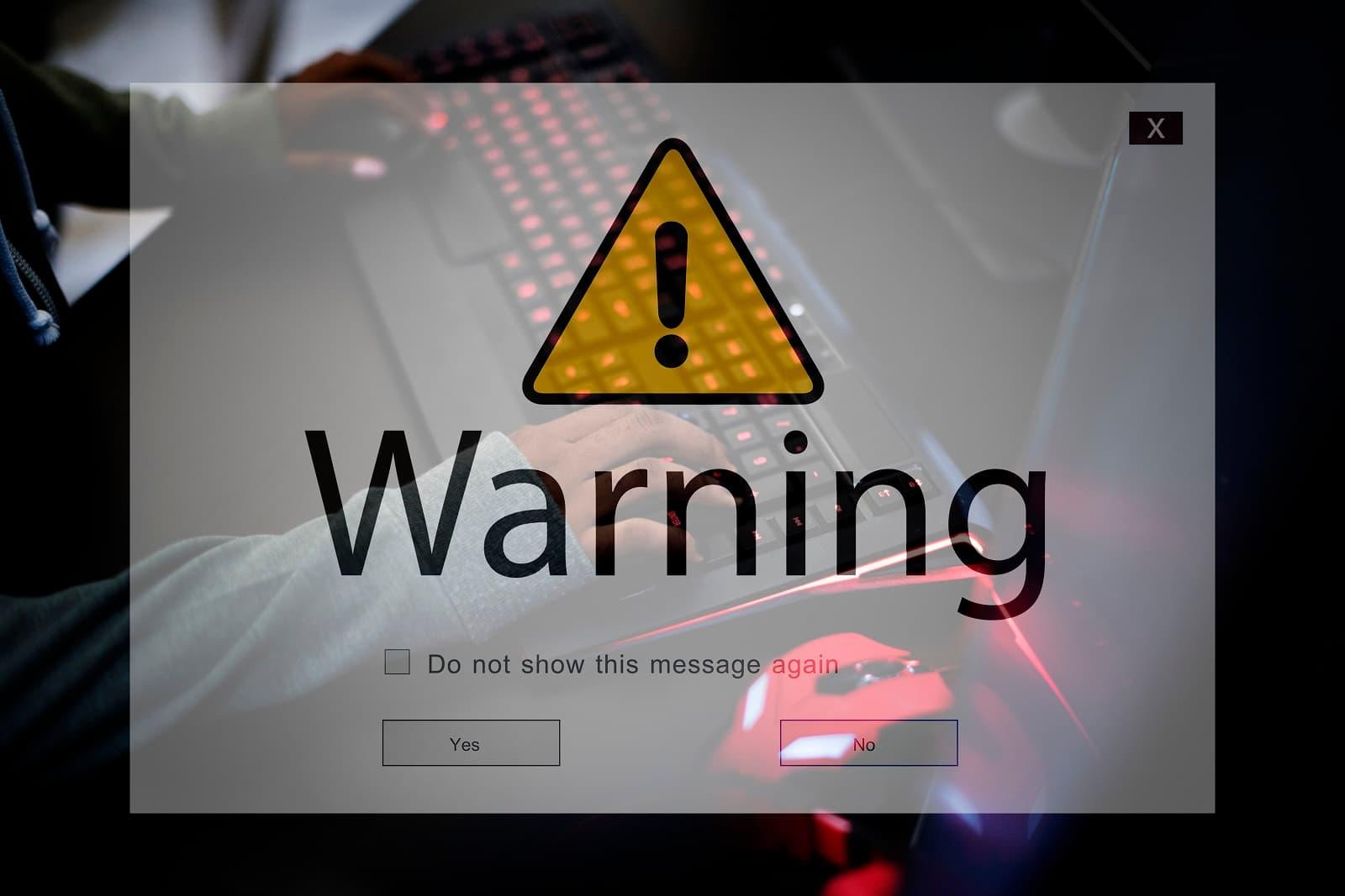 Warning phishing online