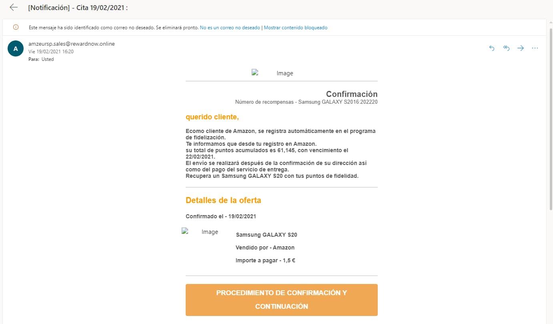 Ejemplo de phishing