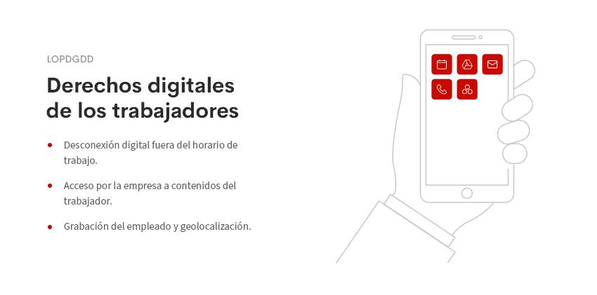 derechos digitales trabajadores - lopgdd