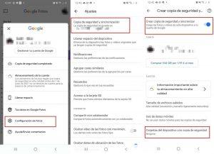 Copia de seguridad Google fotos