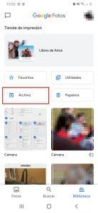 Eliminar fotos en Google Fotos