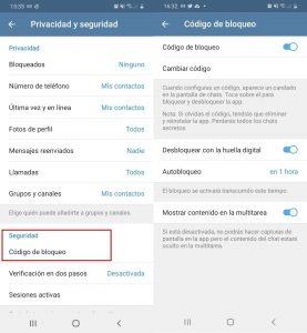 Código de Bloqueo en Telegram