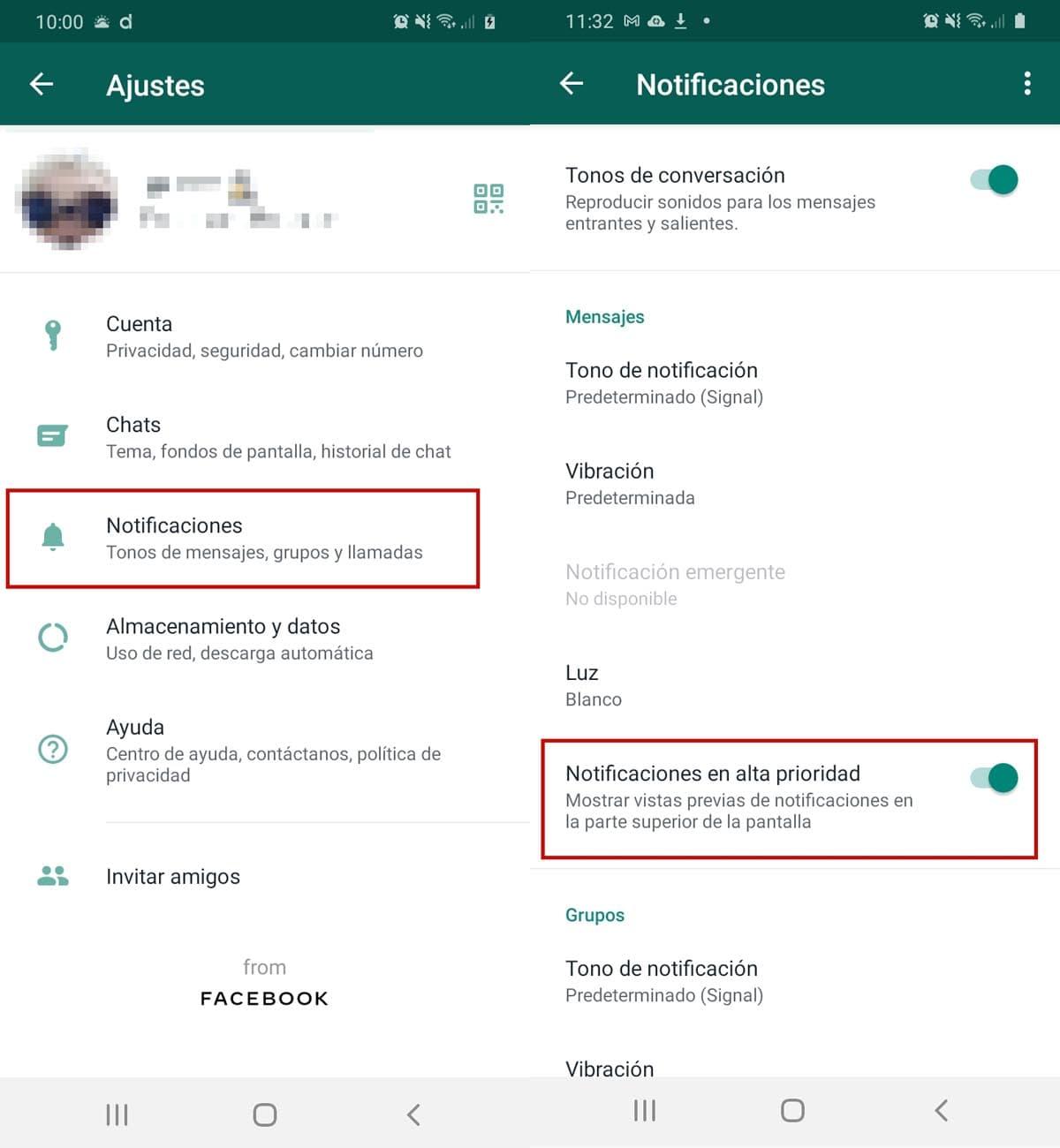 Desbloqueo biométrico whatsapp