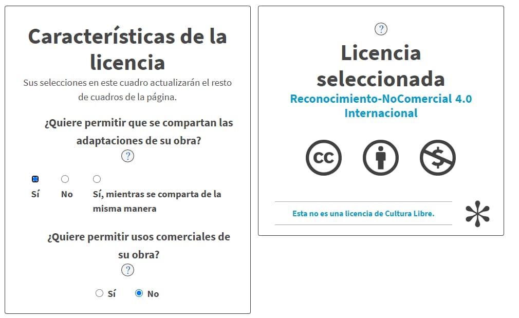 Crear una licencia Creative Commons
