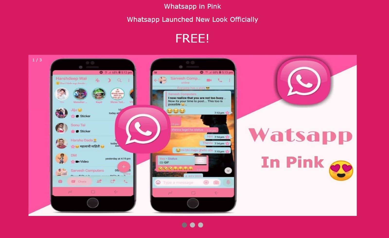 WhatsApp in pink