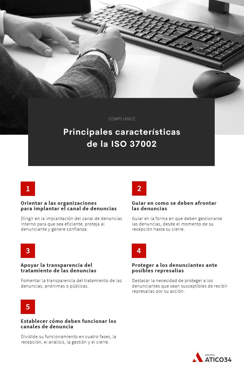 Principales características de la Iso 37002