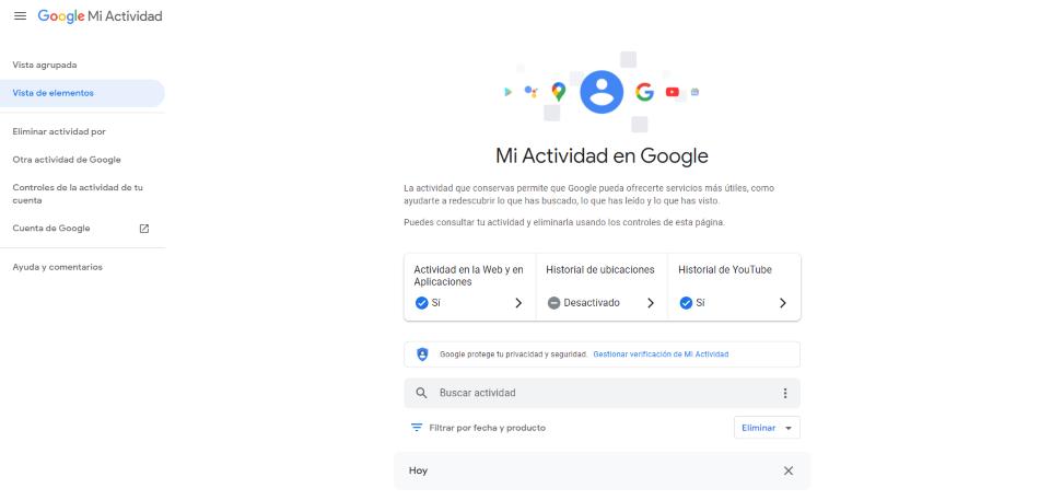 cómo eliminar mis datos personales de google
