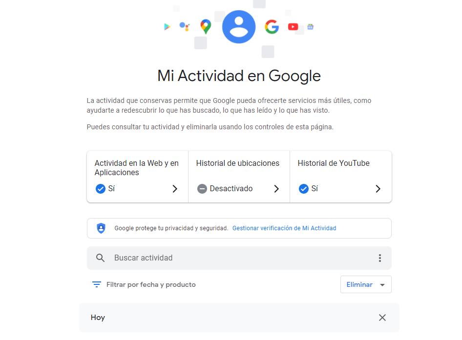 Personalizar búsquedas en Google